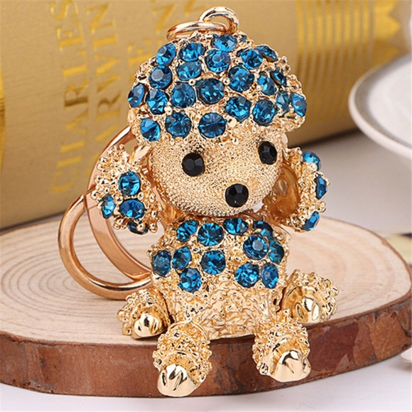 Cinderella's Closet Accessories - Just In!!! Adorable Crystal Puppy Handbag Charm